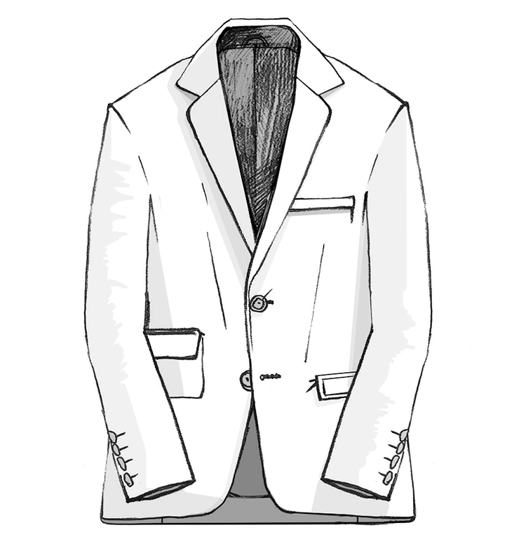Tailored Jacketのイラスト